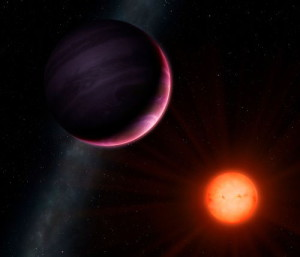 Artist's impression of planet NGTS-1b with its neighbouring star (credit University of Warwick/Mark Garlick).